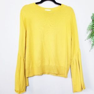 Leith | Marigold Yellow Bell Sleeve Sweater
